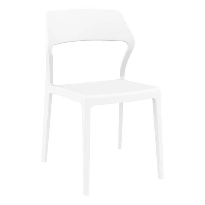 Snow chair white