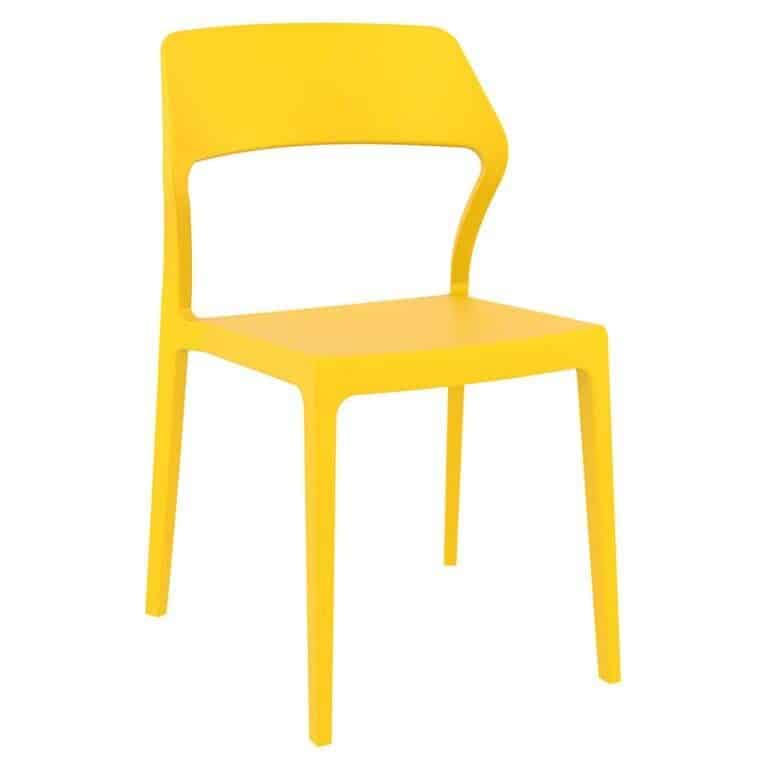 Snow yellow side chair