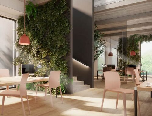 The perfect café, bar, or breakout chair: The Klia Stacking Chair & Armchair